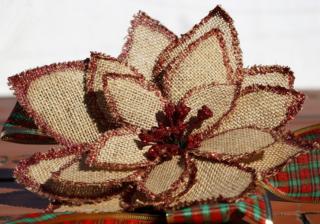 布の花リメイク