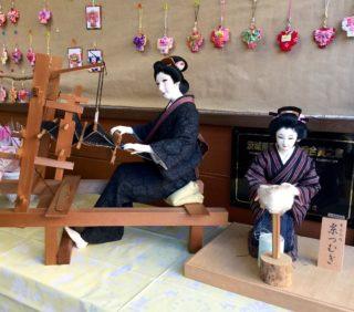 結城紬のお人形